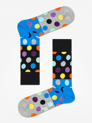 Ponou017eky Happy Socks Big Dot Block (black/blue/grey)