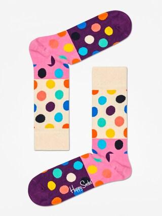 Ponou017eky Happy Socks Big Dot Block (sand/pink/purple)