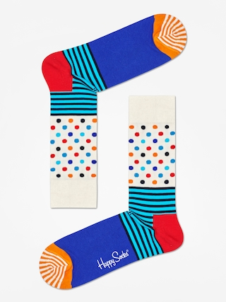 Ponou017eky Happy Socks Stripe And Dots (off white/blue/multi)