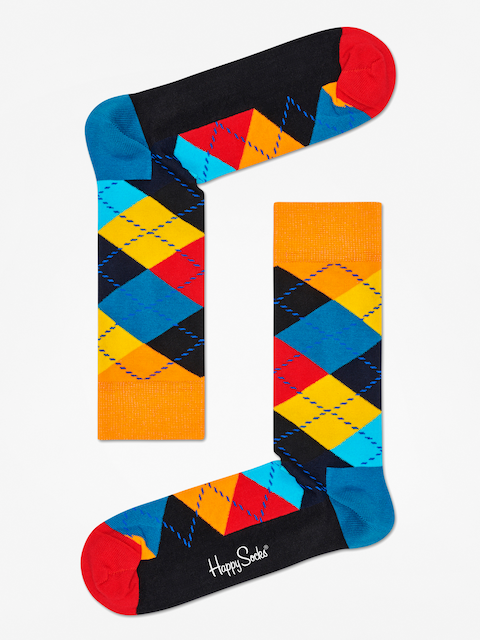 Ponožky Happy Socks Argyle (orange/black/multi)