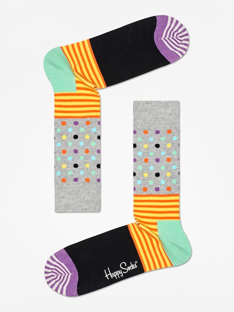 Ponožky Happy Socks Stripe And Dots (heather grey/black/multi)