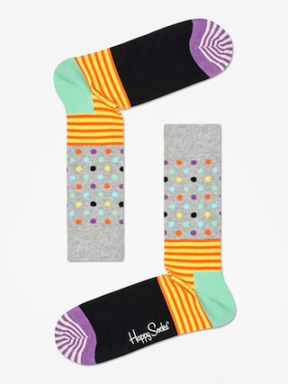 Ponou017eky Happy Socks Stripe And Dots (heather grey/black/multi)