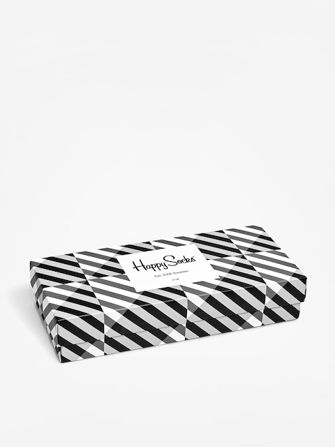 Ponožky Happy Socks Giftbox 4Pk Seasonal Black And White
