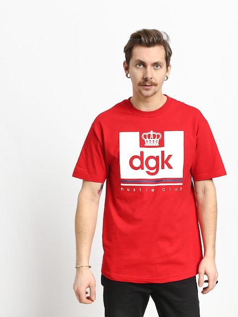 Tričko DGK Hustle Club (red)