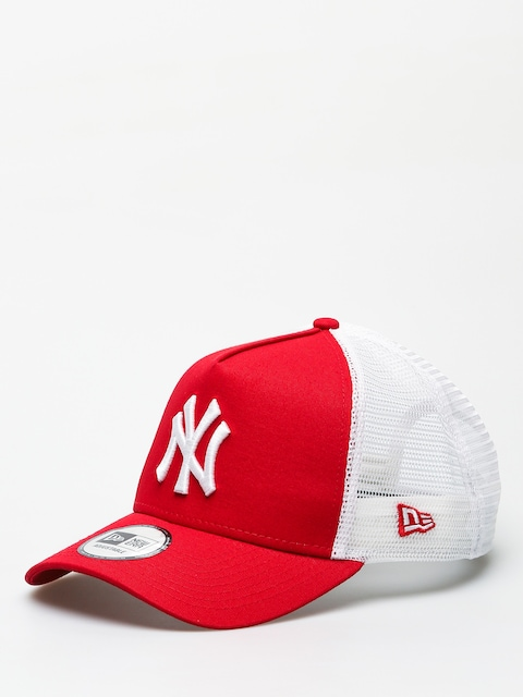 Kšiltovka  New Era Clean Trucker New York Yankees ZD (scarlet)