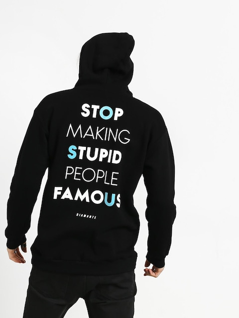 Mikina s kapucí Diamante Wear Stupid People HD (black)