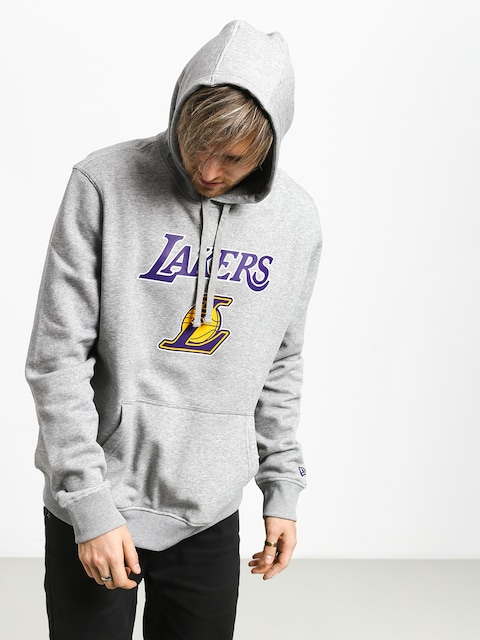 Mikina s kapucí New Era Top 6 Los Angeles Lakers HD (heather gray)