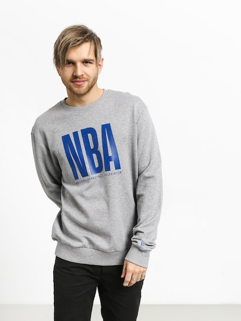 Mikina New Era Nba Logo Crew (heather gray)