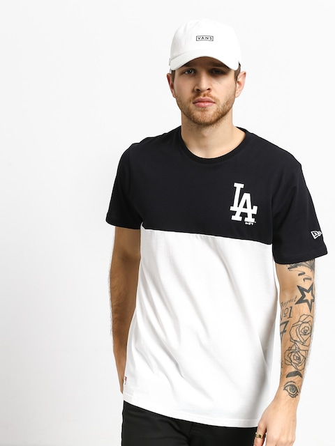 Tričko New Era Colour Block Los Angeles Dodgers (optic white/navy)