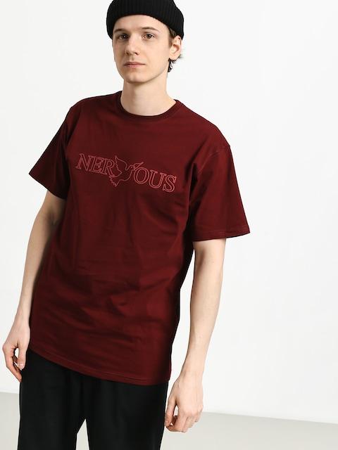Tričko Nervous Classic (maroon)
