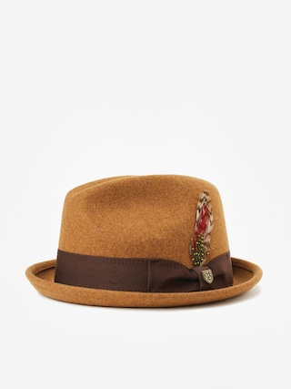Klobouk Brixton Gain Fedora (heather coffee)