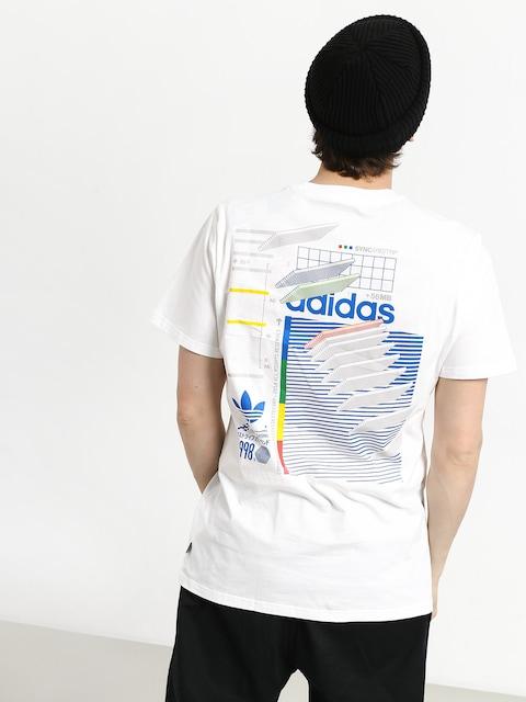 Tričko adidas Dodson (white/blue/green/rea)