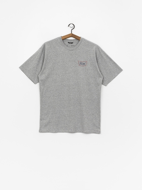 Tričko Brixton Stith Stnd (heather grey/red/blue)