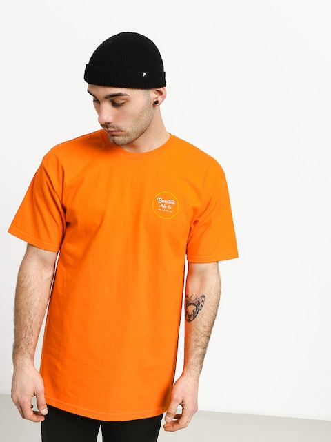 Tričko Brixton Wheeler II Stnd (orange/yellow)