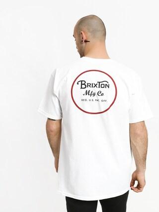 Tričko Brixton Wheeler II Stnd (white/black/red)