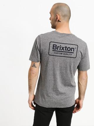 Tričko Brixton Palmer Prem (heather grey/blue)