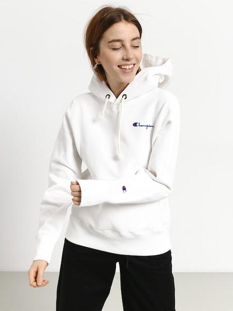 Mikina s kapucí Champion Premium Reverse Weave Hooded Sweatshirt HD Wmn (wht)