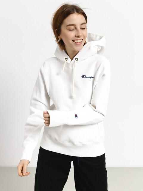 Mikina s kapucí Champion Reverse Weave Hooded Sweatshirt HD Wmn (wht)