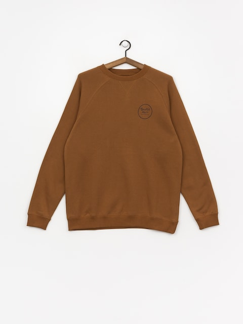 Mikina Wheeler Brixton Intl Crew (washed copper)
