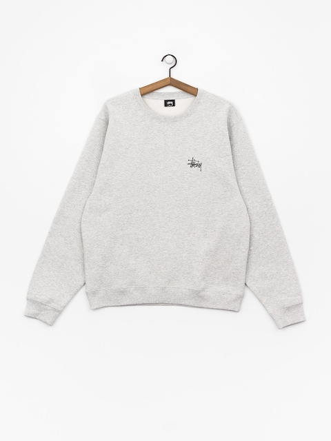 Mikina Stussy Basic Crew (ash heather)