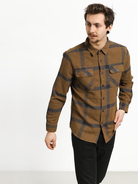Košile Brixton Bowery Flannel (gold/navy)
