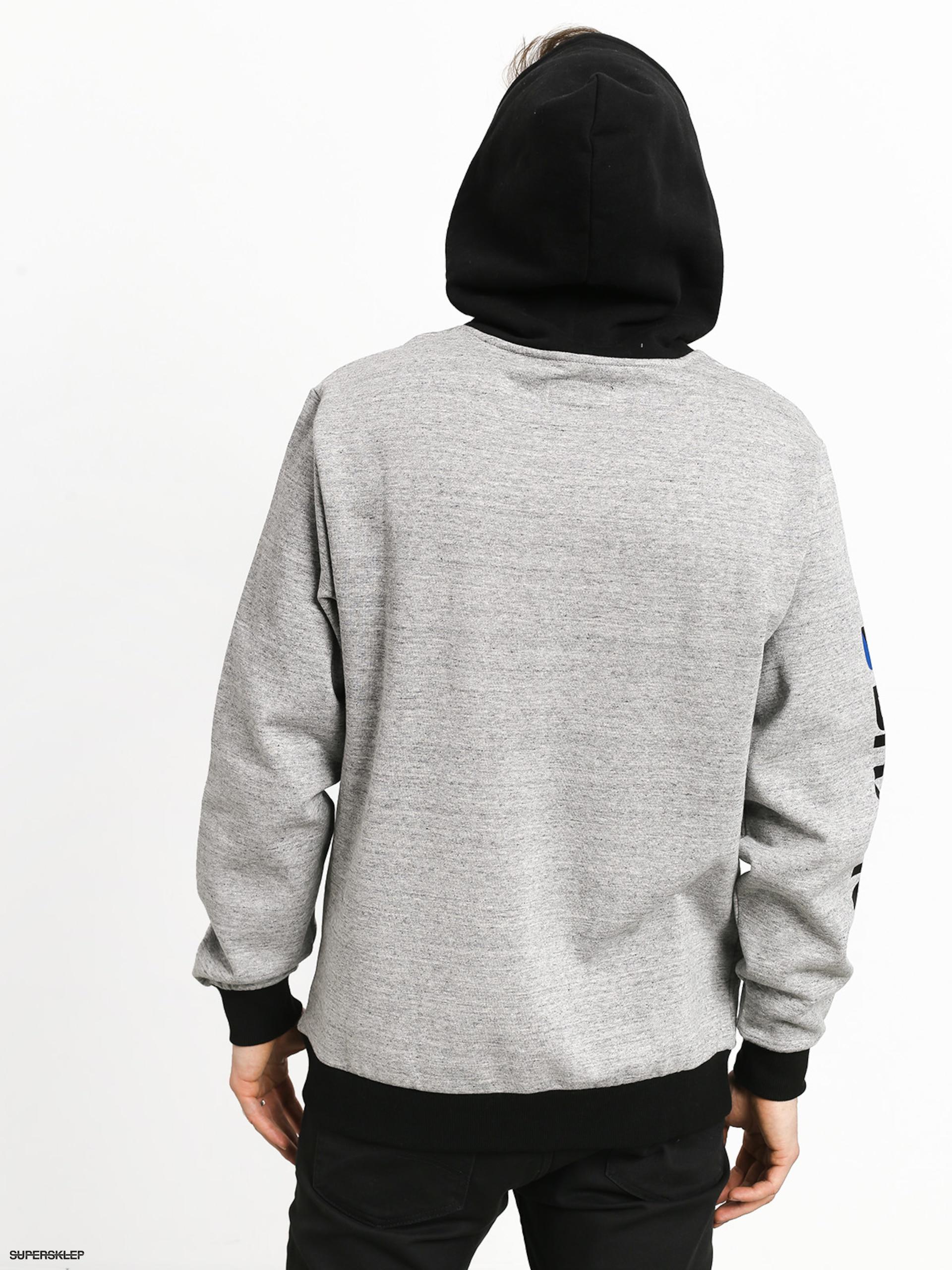 Mikina s kapucí Brixton Stowell Intl HD (heather greyblack)
