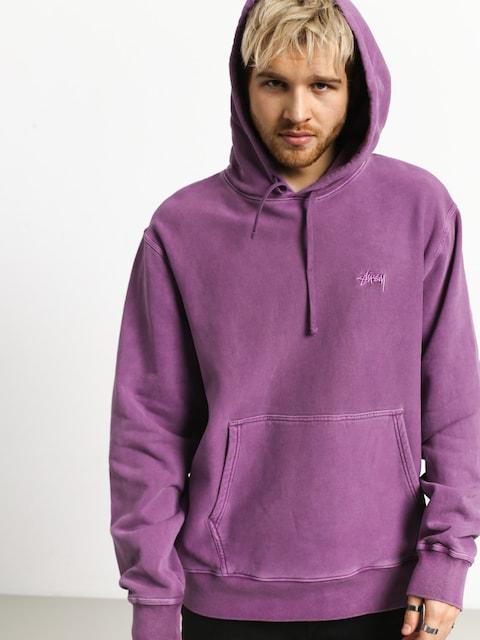 Mikina s kapucí Stussy Stock Logo HD (purple)