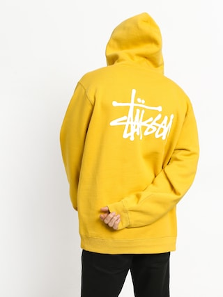 Mikina s kapucí Stussy Basic HD (yellow)