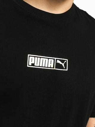 Tričko Puma Graphic Logo N 2 (cotton black/gold foil)
