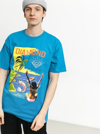 Tričko Diamond Supply Co. Fishing For Compliments (turquoise)
