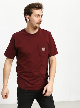 Tričko Carhartt WIP Pocket (cranberry)