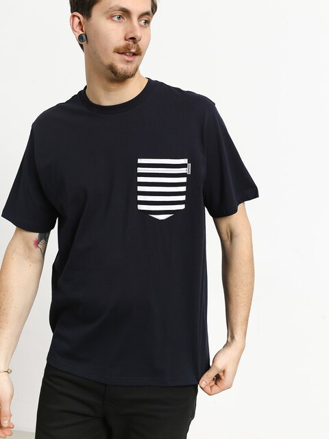Tričko Carhartt WIP Contrast Pocket (dark navy/barkley stripe dark navy/white)