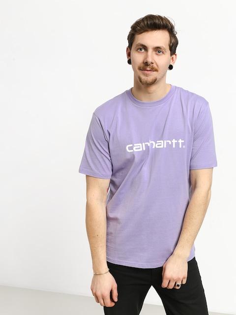 Tričko Carhartt WIP Script (soft lavender/white)