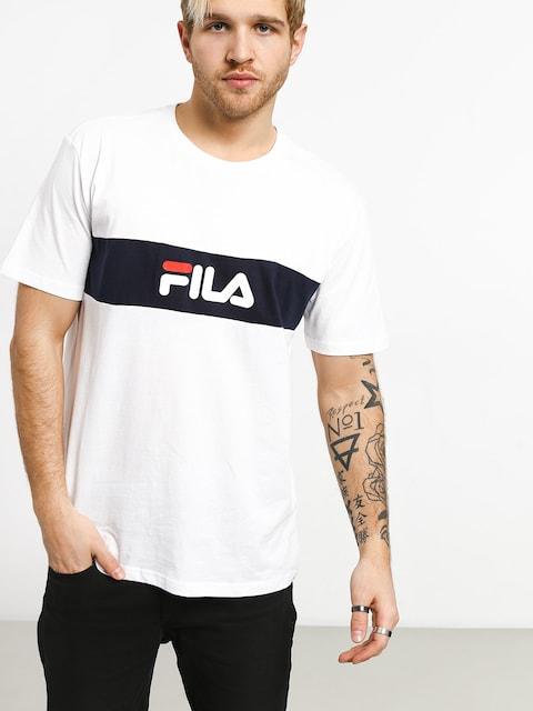 Tričko Fila Nolan (bright white/black iris)