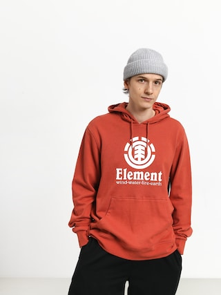 Mikina s kapucí Element Vertical FT HD (etruscan red)