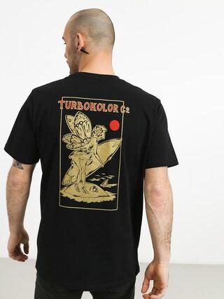 Tričko Turbokolor Lets Surf (black)