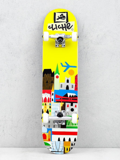 Skateboard Cliche Travel (yellow)