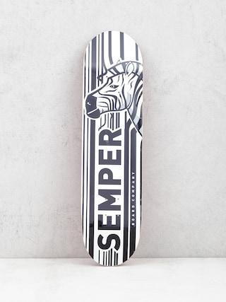 Deska Semper Skateboards Zebra (white/orange)