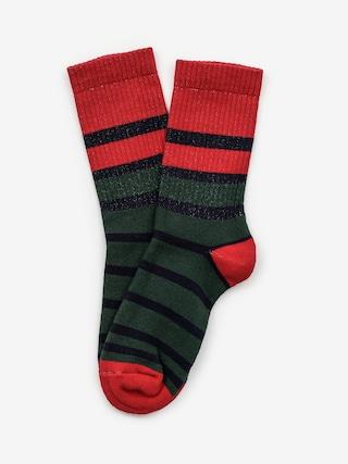 Ponožky Malita Stripes (navy/green)