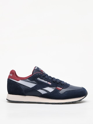 Boty Reebok Cl Leather Mu (navy/red/stucco/grey)