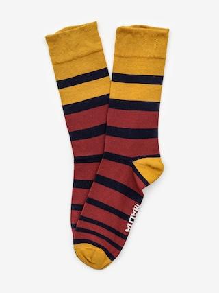 Ponožky Malita Stripes Lt (navy/maroon)