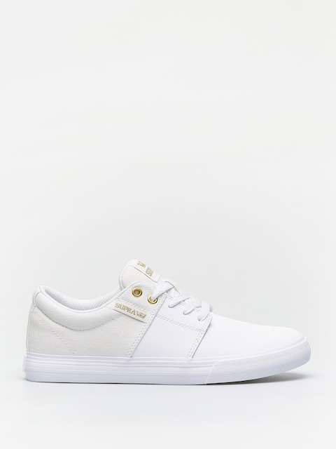 Boty Supra Stacks Vulc II (white/gold white)