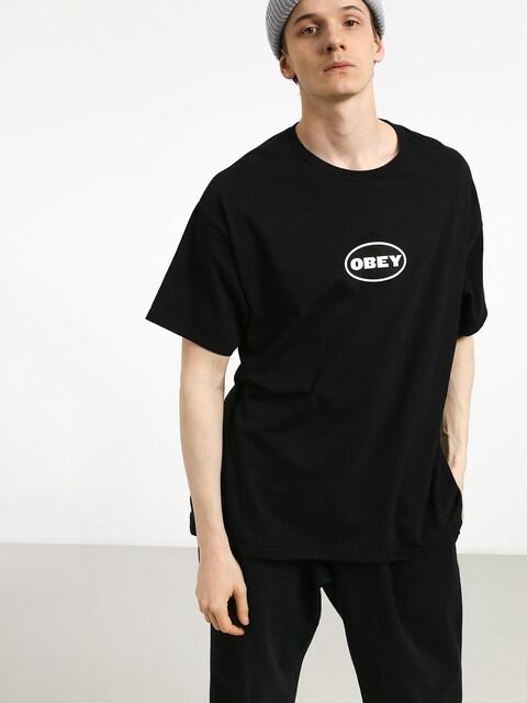 Tričko OBEY Obey Galleria (black)