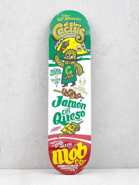 Deska Mob Skateboards Fastfood Cactus (green/white)