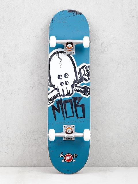 Skateboard Mob Skateboards Skull Stencil (teal/white)