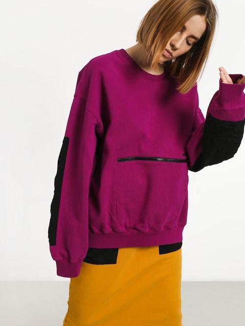 Mikina Stussy Simone Pocket Fleece Crew Wmn (berry)