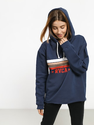 Mikina s kapucí RVCA Retro Rvca HD Wmn (seattle blue)
