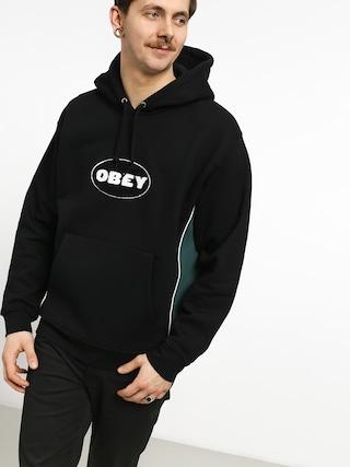 Mikina s kapucí OBEY League HD (black/multi)