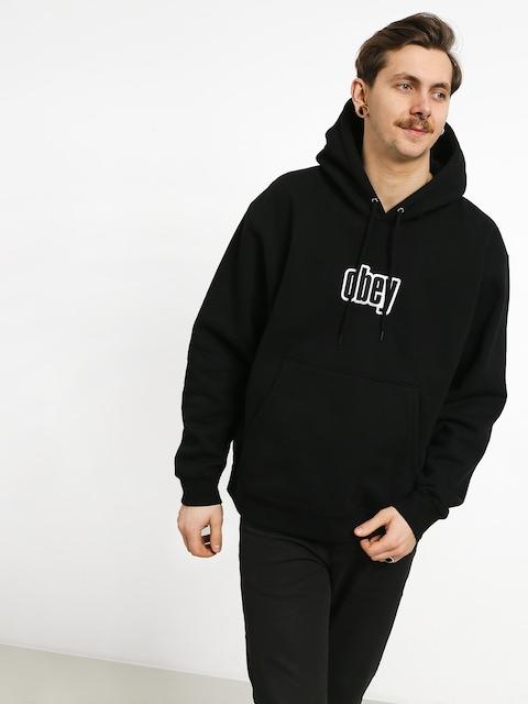 Mikina s kapucí OBEY Warp II HD (black)