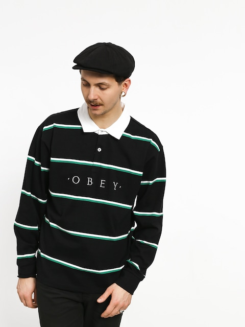 Polo tričko OBEY Washer Classic Ls (black/multi)